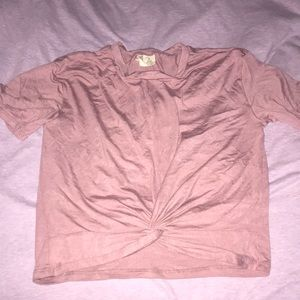 Tilly's Tops - Pink Knotted T-shirt